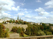 Luxemburg, view with bridge — Stock Photo