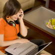 Easy Listening Laptop - Stock Photo