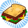 Royalty-Free Stock Vector Image: Sandwich