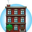 Apartment Building - Stock Vector