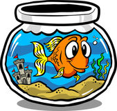 Fish Tank — Stock Vector