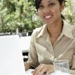 Foto Stock: Businesswoman working