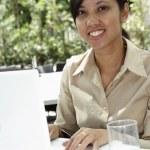 工作的女商人 — 图库照片