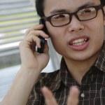 Man on phone — Stock Photo