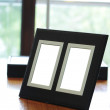 Blank photo frames — Stock Photo