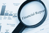 Finanzbericht — Stockfoto
