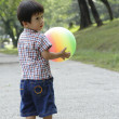 Boy with ball — Stock Photo #3011414