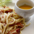 Spaghetti Carbonara, Italian cuisine — Stock Photo #3011428