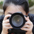 Female photographer — Foto de Stock