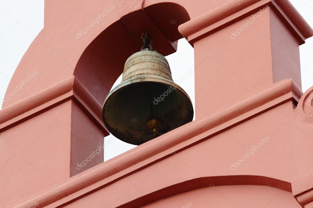 The bell of the Christ Church in Melaka, Malaysia — Stock Photo #3123135