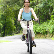 Woman cycling — Stock Photo #3161775