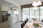 Kitchen and dining area — Stockfoto