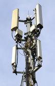 Telecommunications mast — Stock Photo