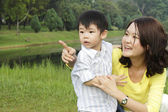 Matka a syn — Stock fotografie