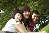 Asian family — Stock Photo