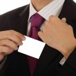 Businessman showing card — Stock Photo
