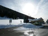 таможня в горы, швейцария — Стоковое фото