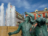 Fountain at Nice, France — Stock Photo