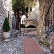 Stock Photo: Street in Eze village, France