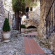 Street in Eze village, France - Stock Photo
