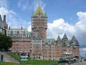 Frontenac castle, Quebec, Canada — Stock Photo