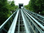 Rails of funicular — Stock Photo