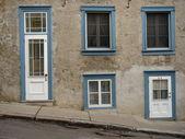 在老魁北克,加拿大的门面 — 图库照片