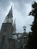 Grey basilica in Ottawa by stormy weather — Stock Photo