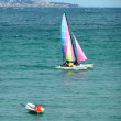 Very colored sailing boat — Stock Photo