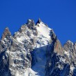 Mont-Blanc massif rock and snow — Stock Photo