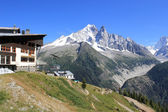 Flegere station and Mont-Blanc in the Alps, France — Stock Photo