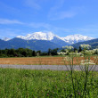 View of the Mont-Blanc massif, France — Stock Photo