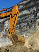 Braço de laranja mecânica escavador — Fotografia Stock