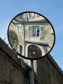Mirror in a street — Stock Photo