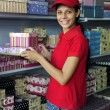 Young womanl working in a store — Stock Photo #2797407
