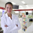 Royalty-Free Stock Photo: Portrait of a female pharmacist at pharmacy