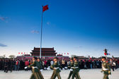 Tiananmen square and Police, beijing — Stock Photo