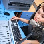Live broadcasting — Stock Photo