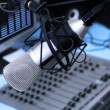 in de radiostudio — Stockfoto