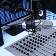 In radio studio — Foto Stock