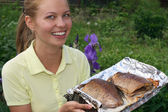 Fish fry — Stock Photo