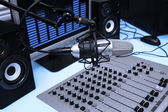 In radio studio — Stock Photo