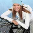 Autumn bicycling - Stock Photo