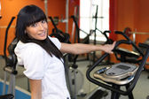 In a gym — Stock Photo
