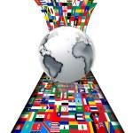 banderas del mundo — Foto de Stock