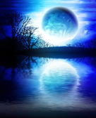 Fantastic night landscape — Stock Photo