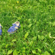 Barefoot on grass — Stock Photo #3271345