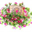 Stock Photo: Icon with flowers