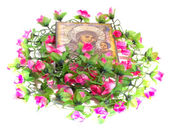 Icon with flowers — Stock Photo