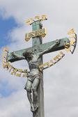 Jesus bei kreuz — Stockfoto